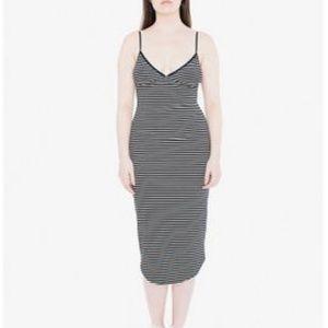 American Apparel Sofia Striped Midi Dress XS